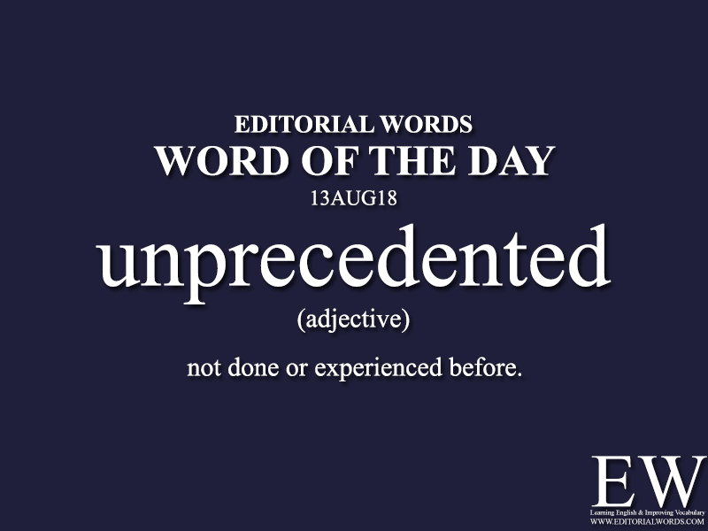 Word of the Day-13AUG18 - Editorial Words