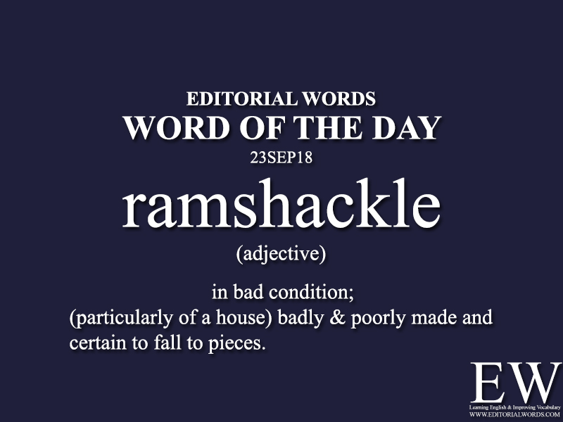 Word of the Day-23SEP18 - Editorial Words