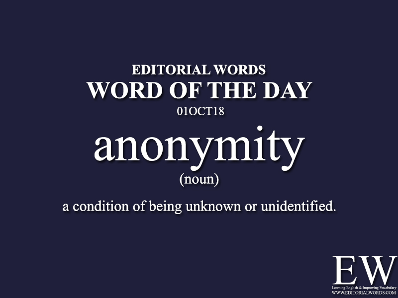 Word of the Day-01OCT18 - Editorial Words