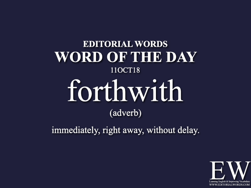 Word of the Day-11OCT18 - Editorial Words