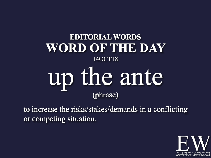 Word of the Day-14OCT18 - Editorial Words