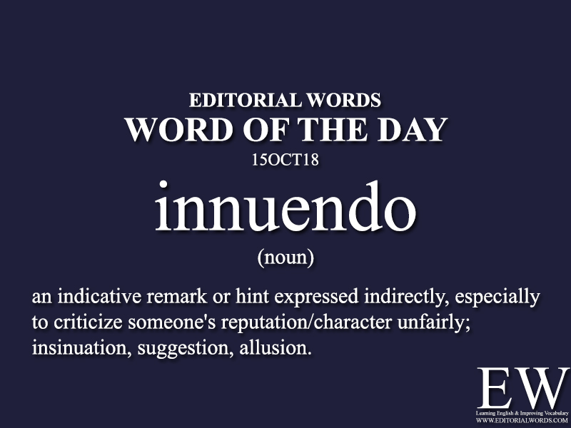 Word of the Day-15OCT18 - Editorial Words