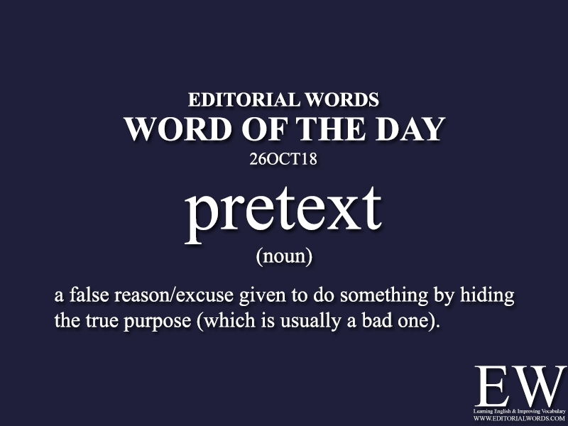 Word of the Day-26OCT18 - Editorial Words