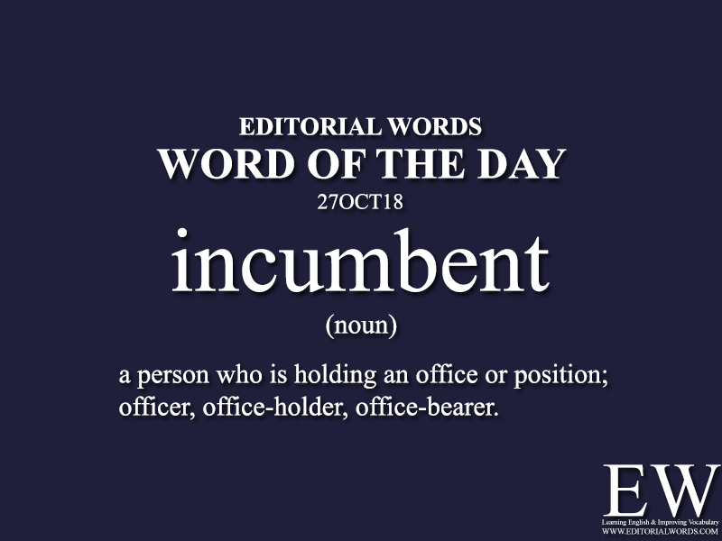 Word of the Day-27OCT18 - Editorial Words