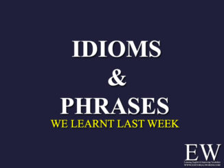 Idioms & Phrases Archives - Editorial Words