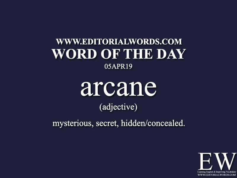 Word of the Day-05APR19 - Editorial Words