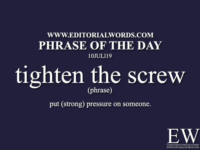 Phrase of the Day-10JUL19-Editorial Words