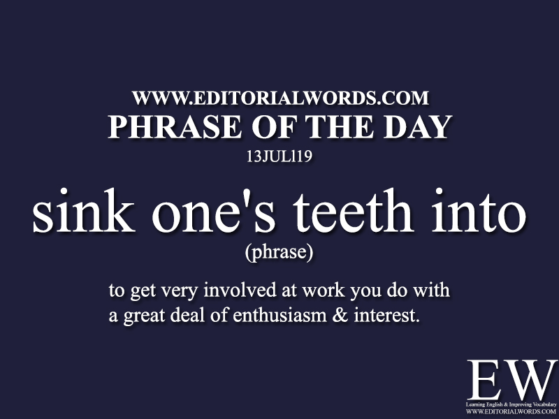 Phrase of the Day-13JUL19-Editorial Words