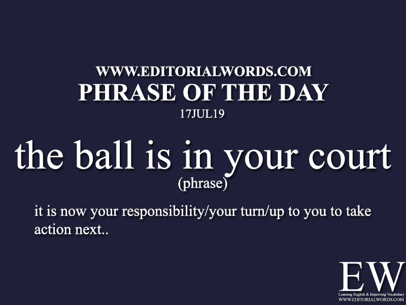 Phrase of the Day-17JUL19-Editorial Words