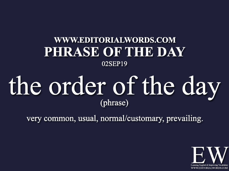 Phrase of the Day-02SEP19-Editorial Words