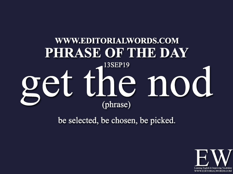 Phrase of the Day-13SEP19-Editorial Words