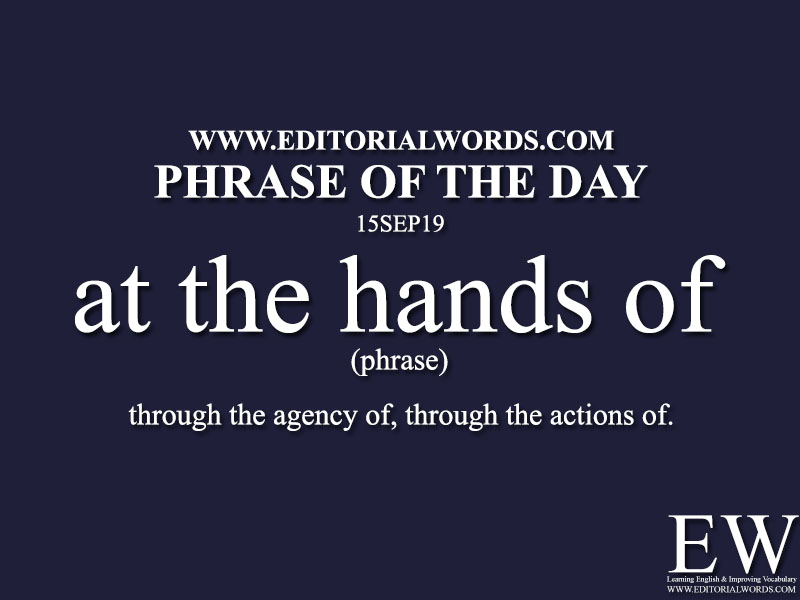 Phrase of the Day-15SEP19-Editorial Words