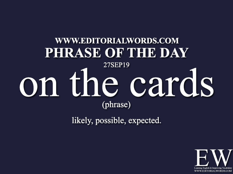Phrase of the Day-27SEP19-Editorial Words