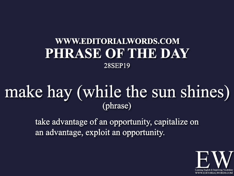 Phrase of the Day-28SEP19-Editorial Words