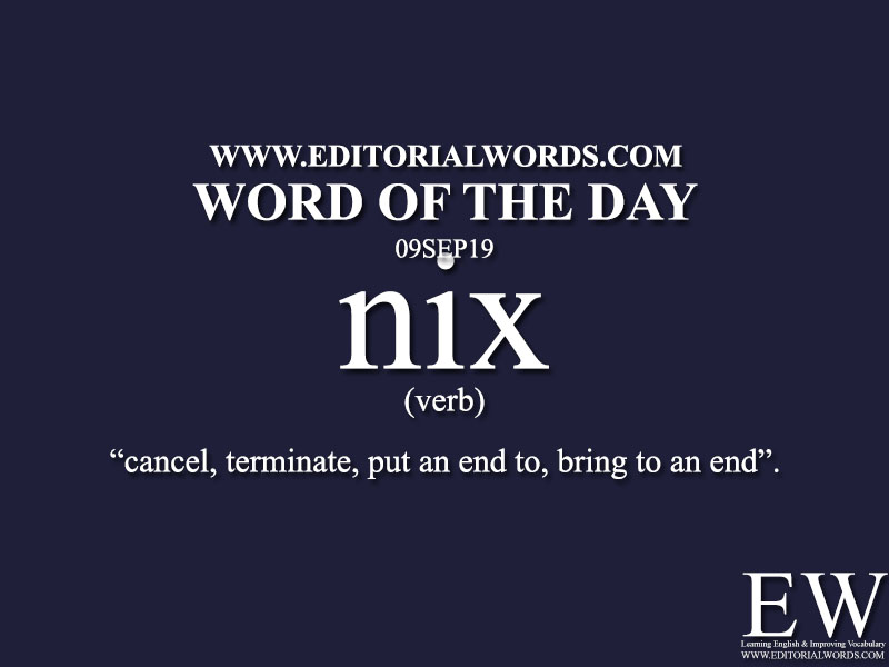 Word of the Day-09SEP19-Editorial Words