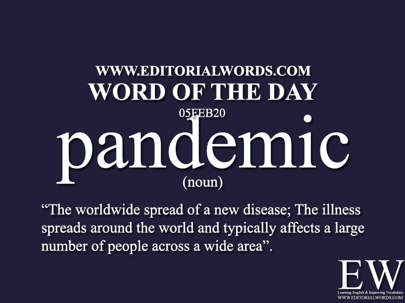 Word of the Day (pandemic)-05FEB20