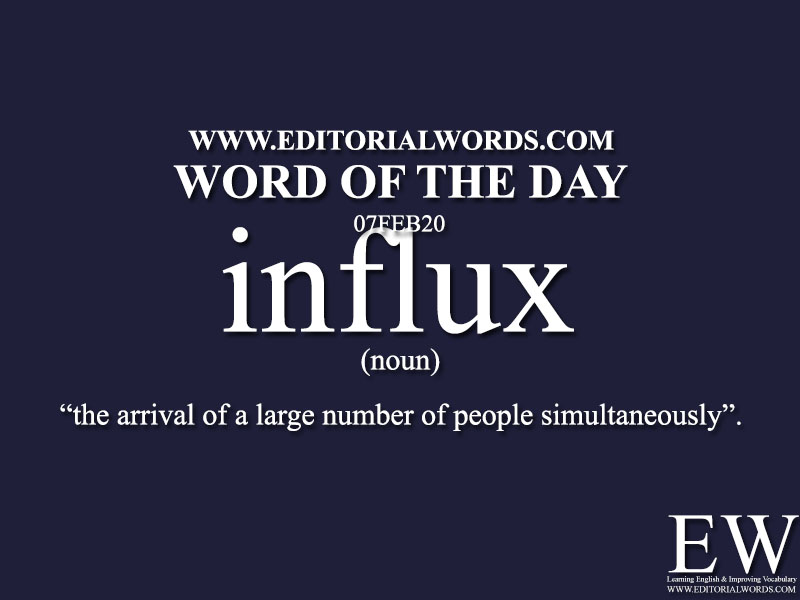 Word of the Day (influx)-07FEB20