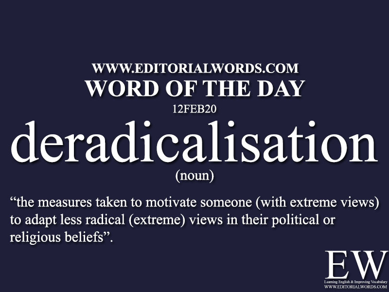 Word of the Day (deradicalisation)-12FEB20