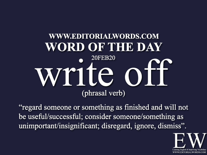 Word of the Day (write off)-20FEB20