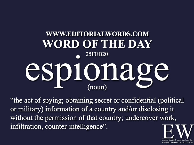 Word of the Day (espionage)-25FEB20