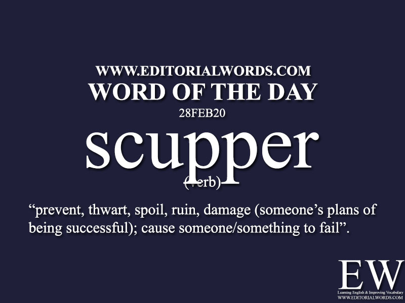 Word of the Day (scupper)-28FEB20