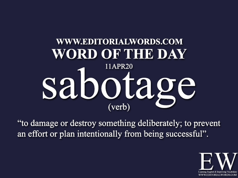 Word of the Day (sabotage)-11APR20