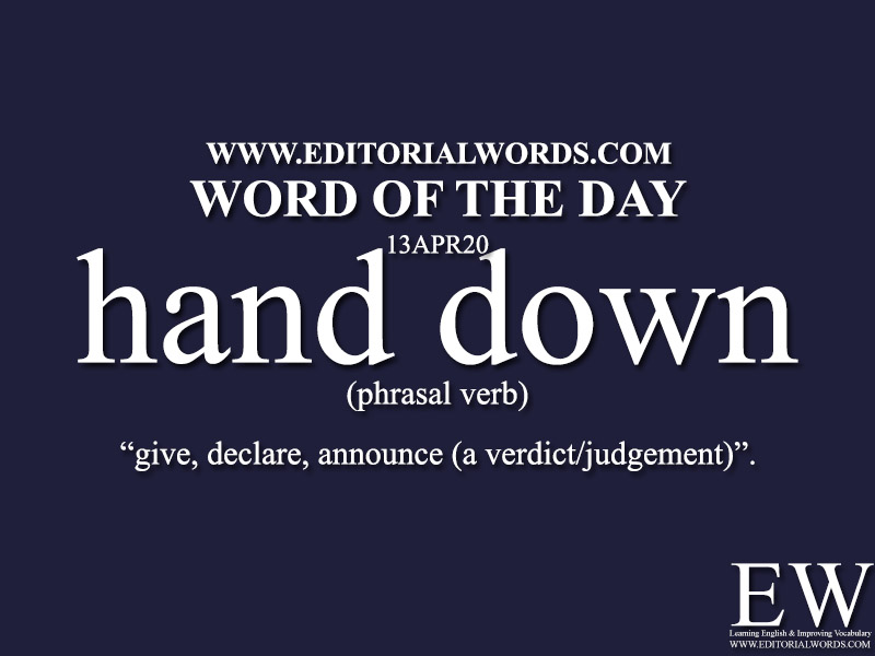 Word of the Day (hand down)-13APR20