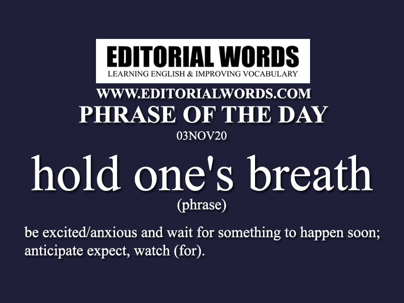 Phrase of the Day (hold one's breath)-03NOV20