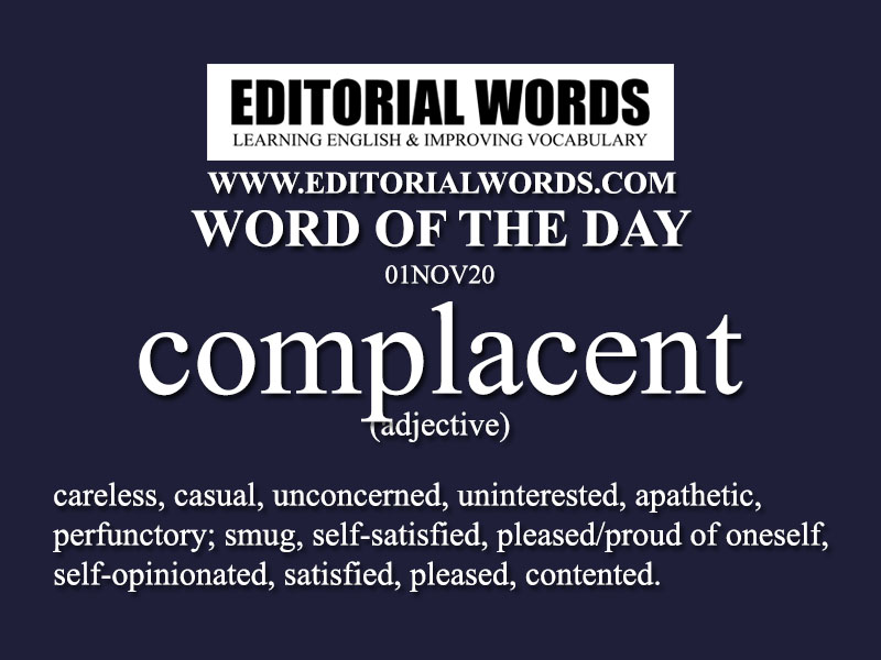 Word of the Day (complacent)-01NOV20