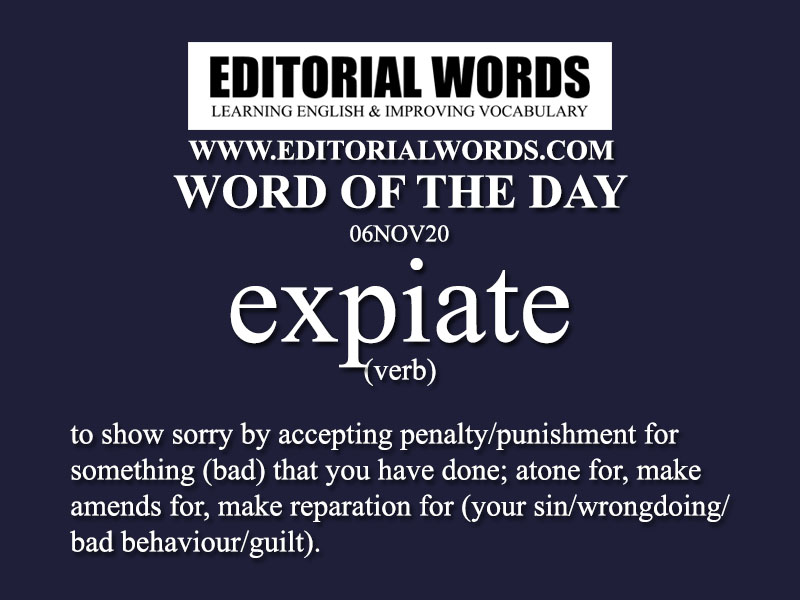 Word of the Day (expiate)-06NOV20