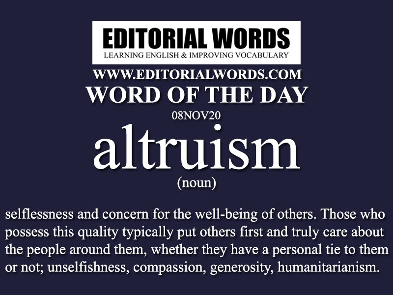 Word of the Day (altruism)-08NOV20