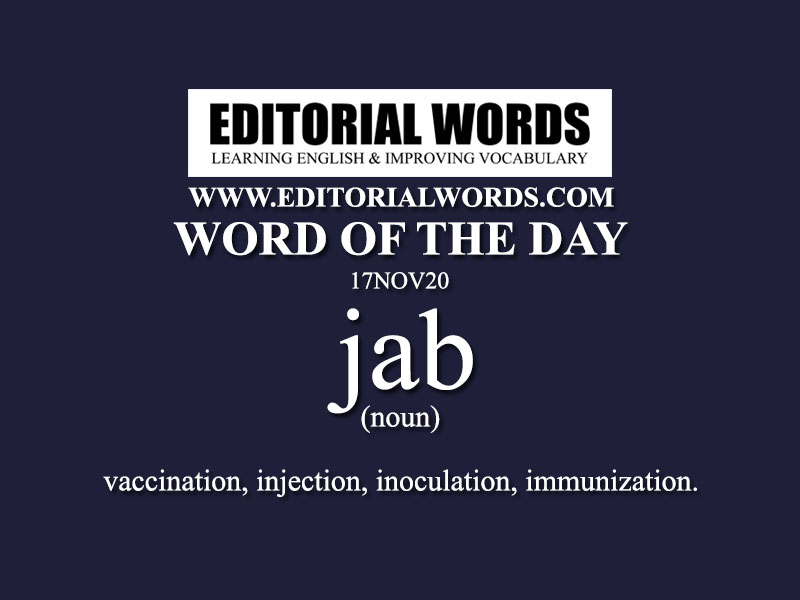 Word of the Day (jab)-17NOV20