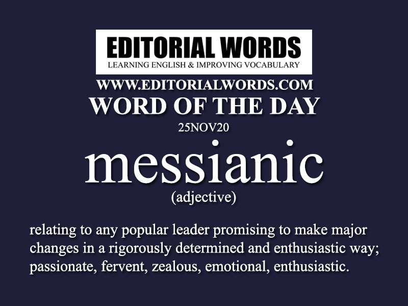 Word of the Day (messianic)-25NOV20