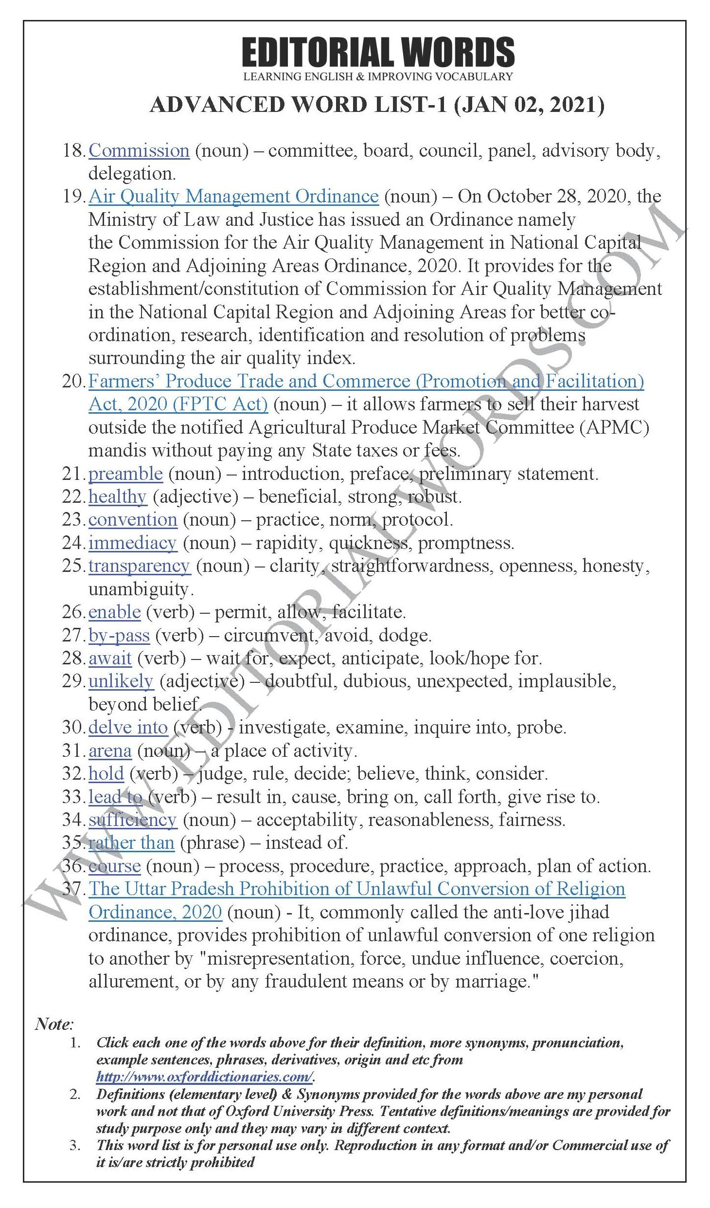 The Hindu Lead Article (An ill-conceived, overbroad and vague ordinance) – Jan 02, 2021