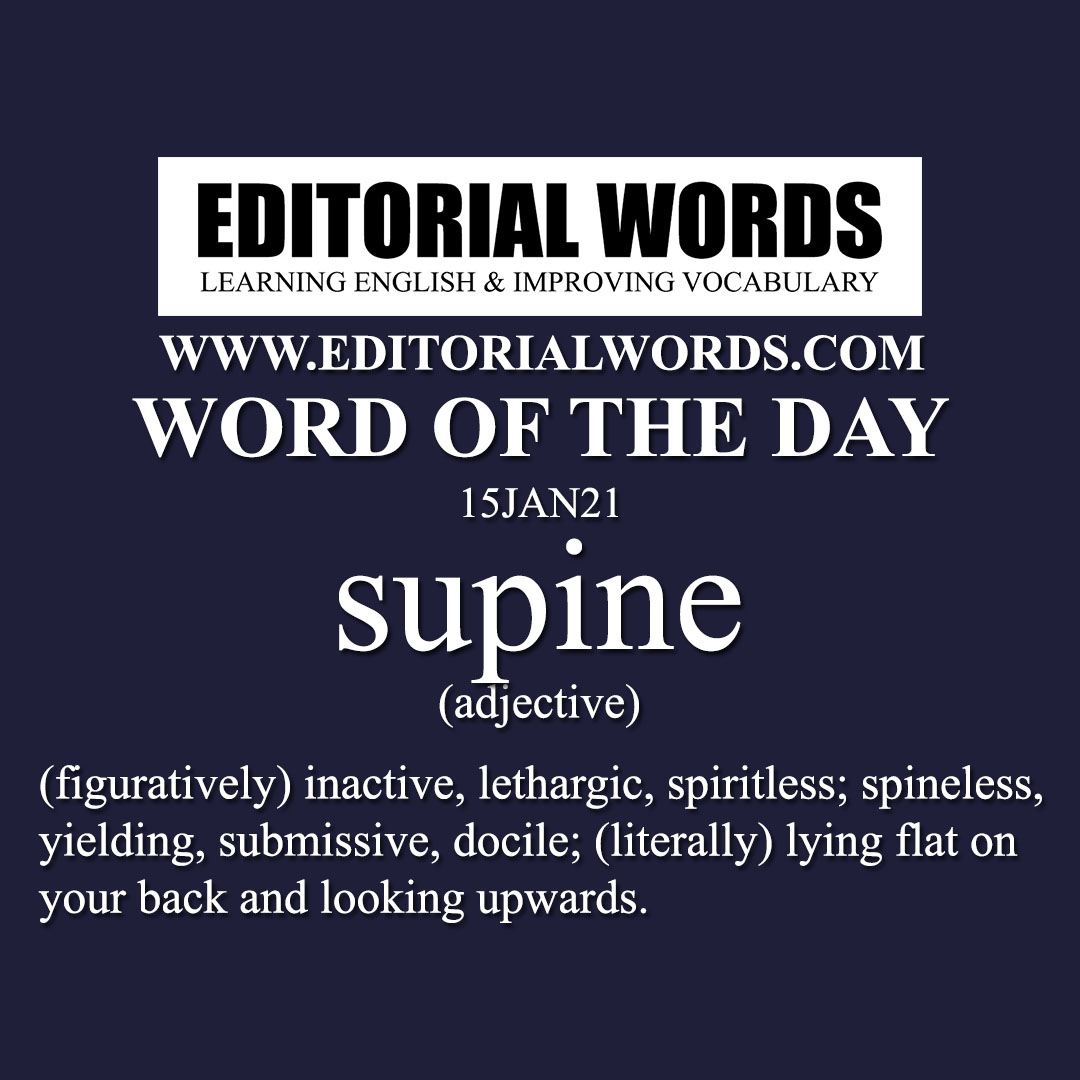 Word of the Day (supine)-15JAN21