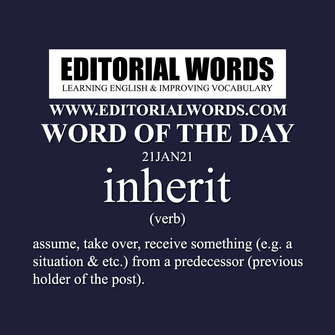Word of the Day (inherit)-21JAN21