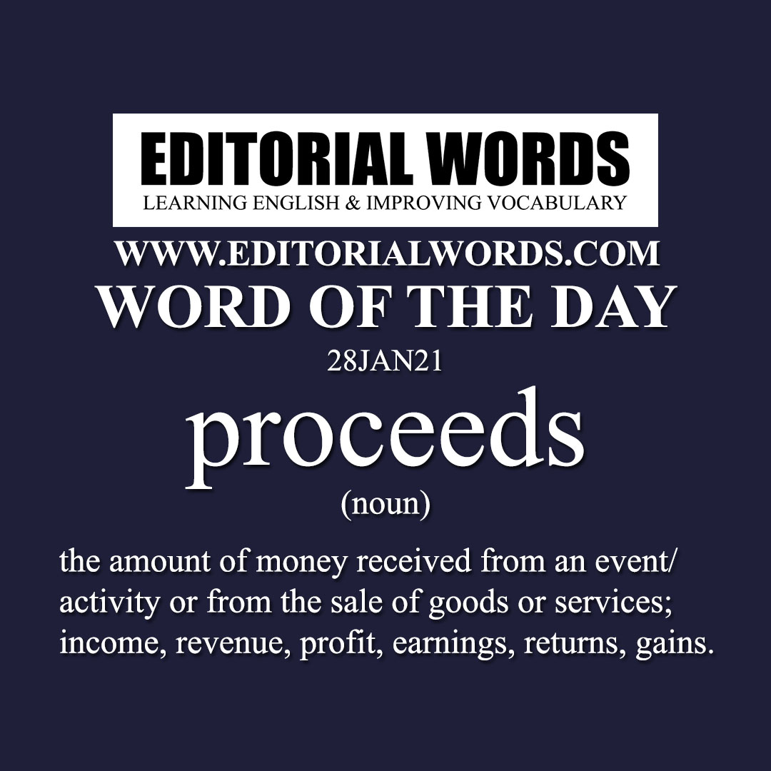 Word of the Day (proceeds)-28JAN21