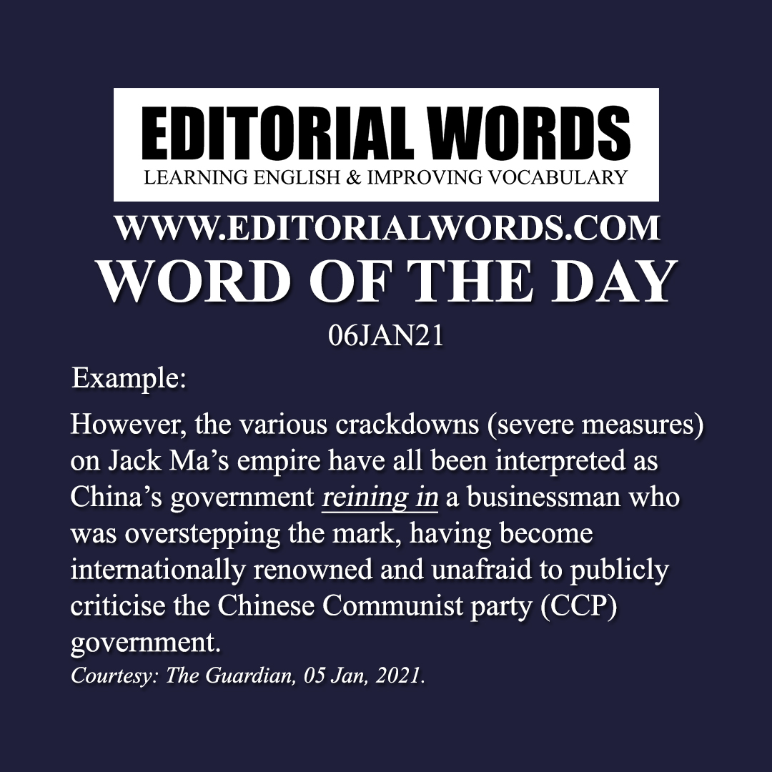 Word of the Day (rein in)-06JAN21