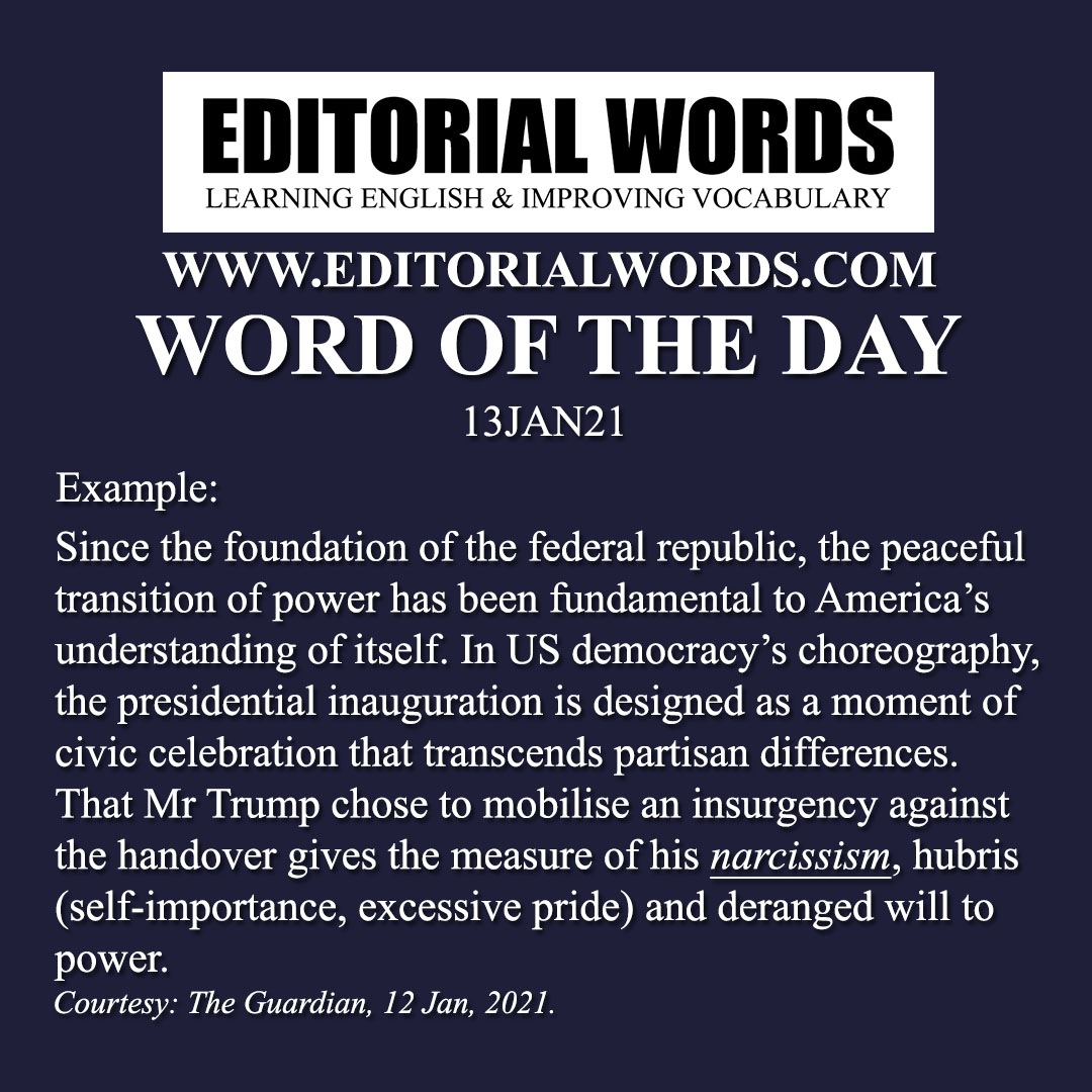 Word of the Day (narcissism)-13JAN21