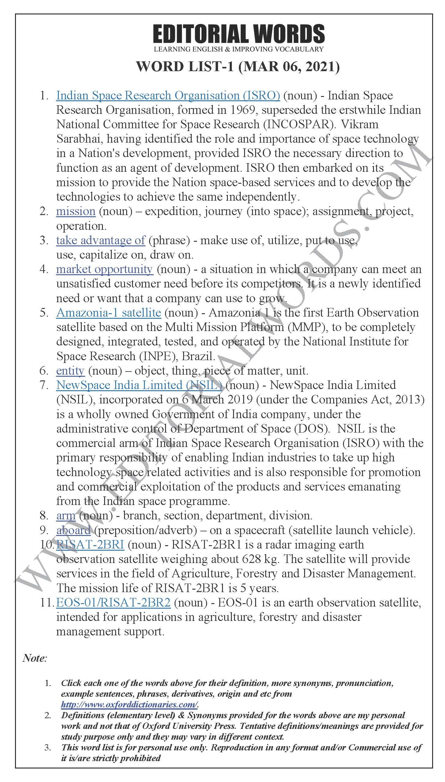 The Hindu Editorial (New space) – Mar 06, 2021