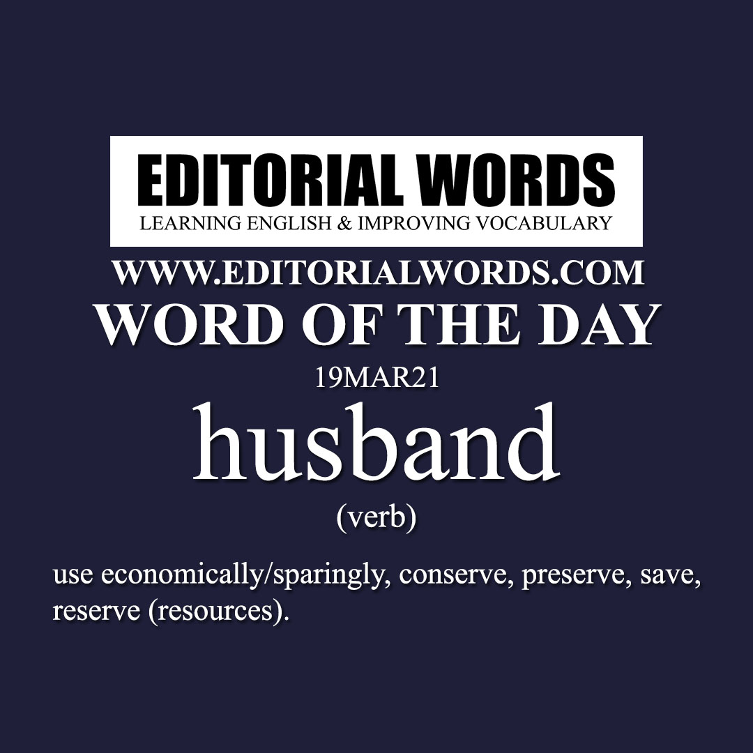 Word of the Day (husband)-19MAR21