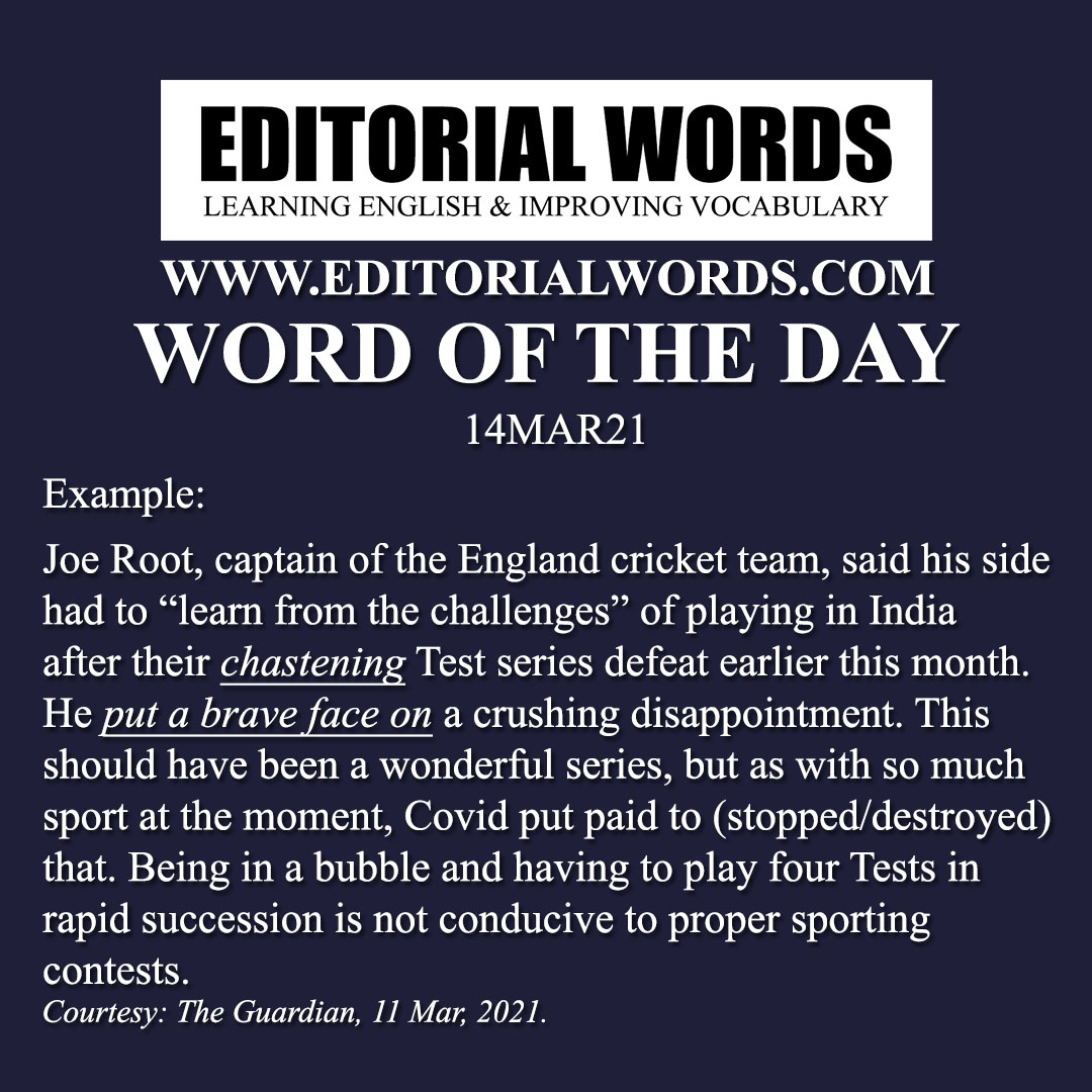 Word of the Day (chastening)-14MAR21
