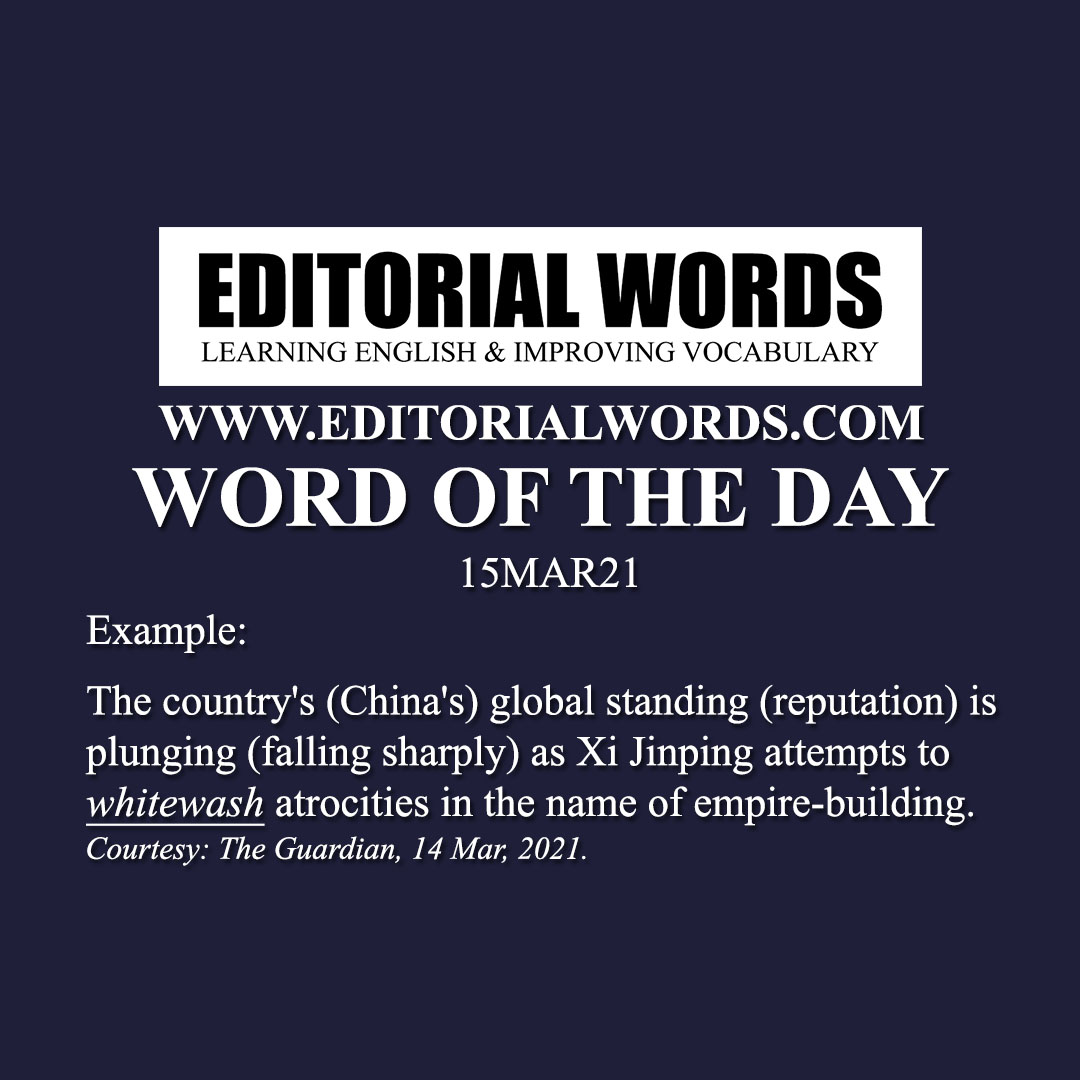 Word of the Day (whitewash)-15MAR21