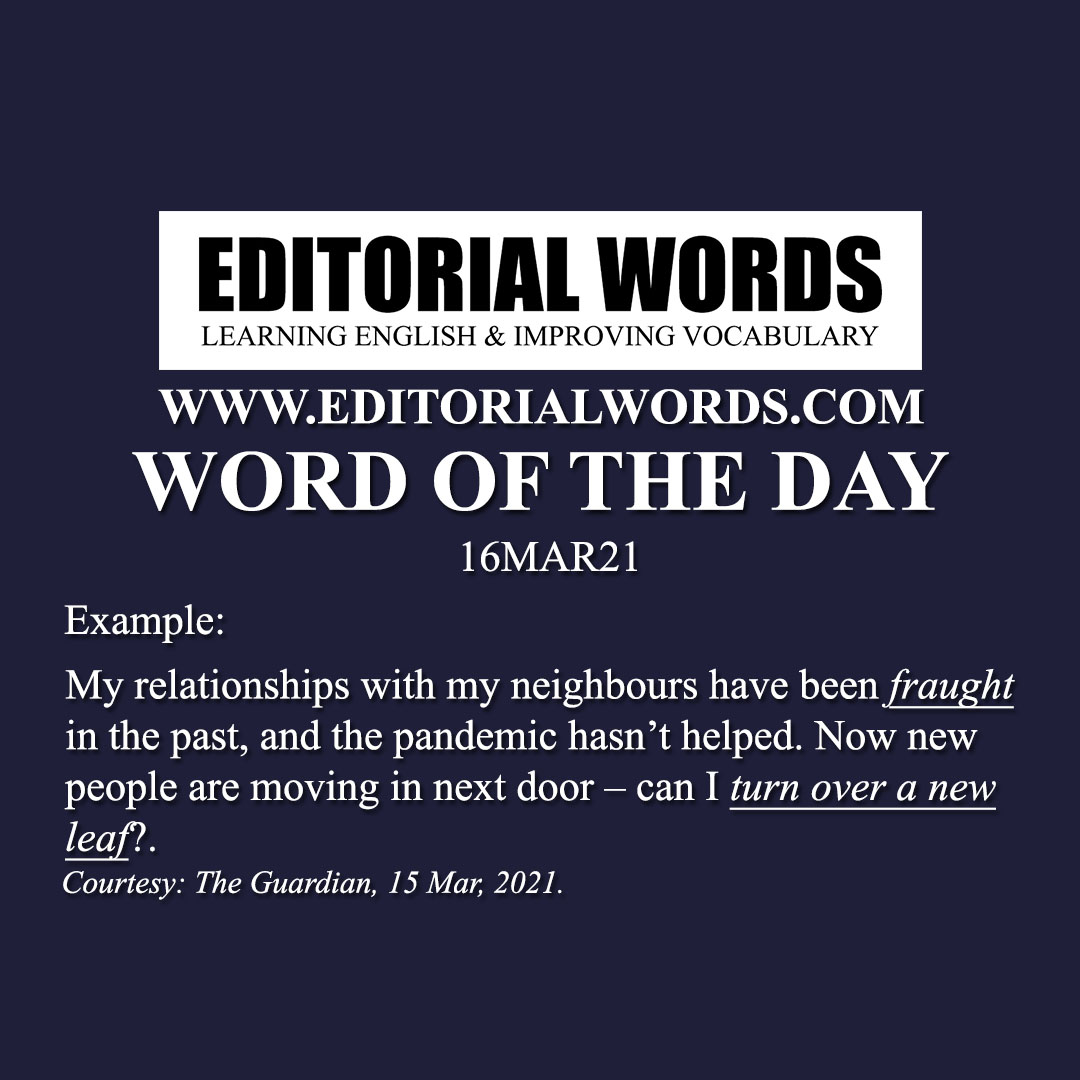 Word of the Day (fraught)-16MAR21
