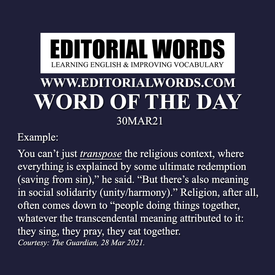 Word of the Day (transpose)-30MAR21