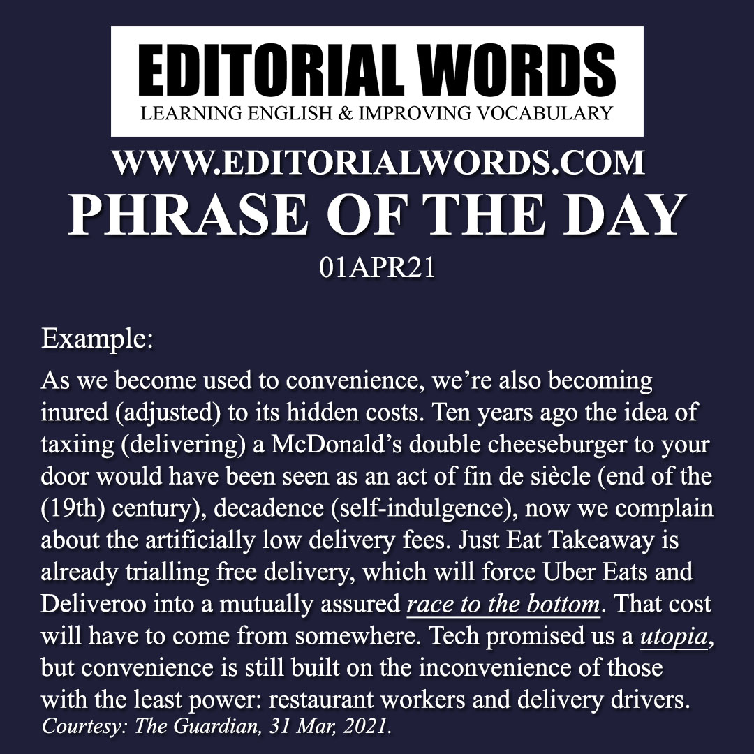 Phrase of the Day (a race to the bottom)-01APR21