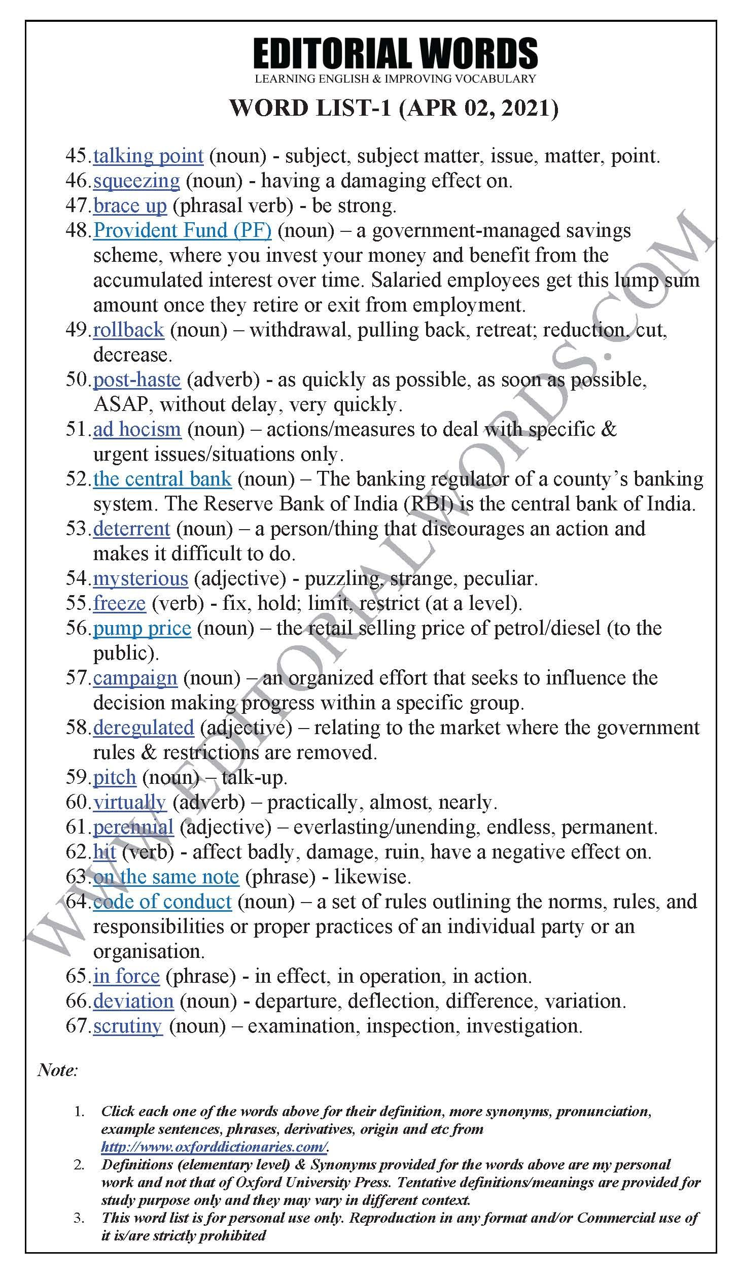 The Hindu Editorial (Overseeing oversights) – Apr 02, 2021