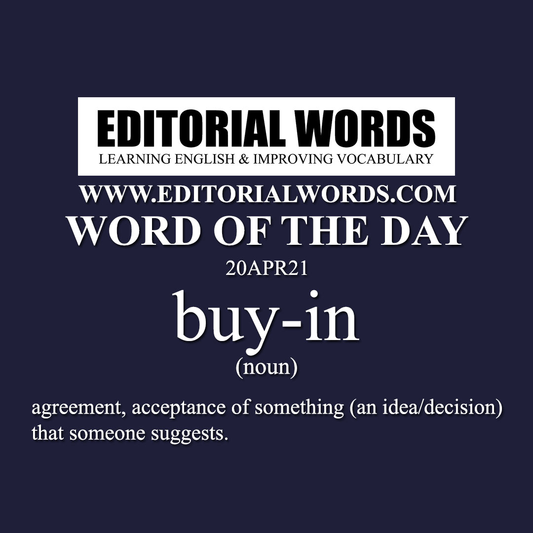Word of the Day (buy-in)-20APR21