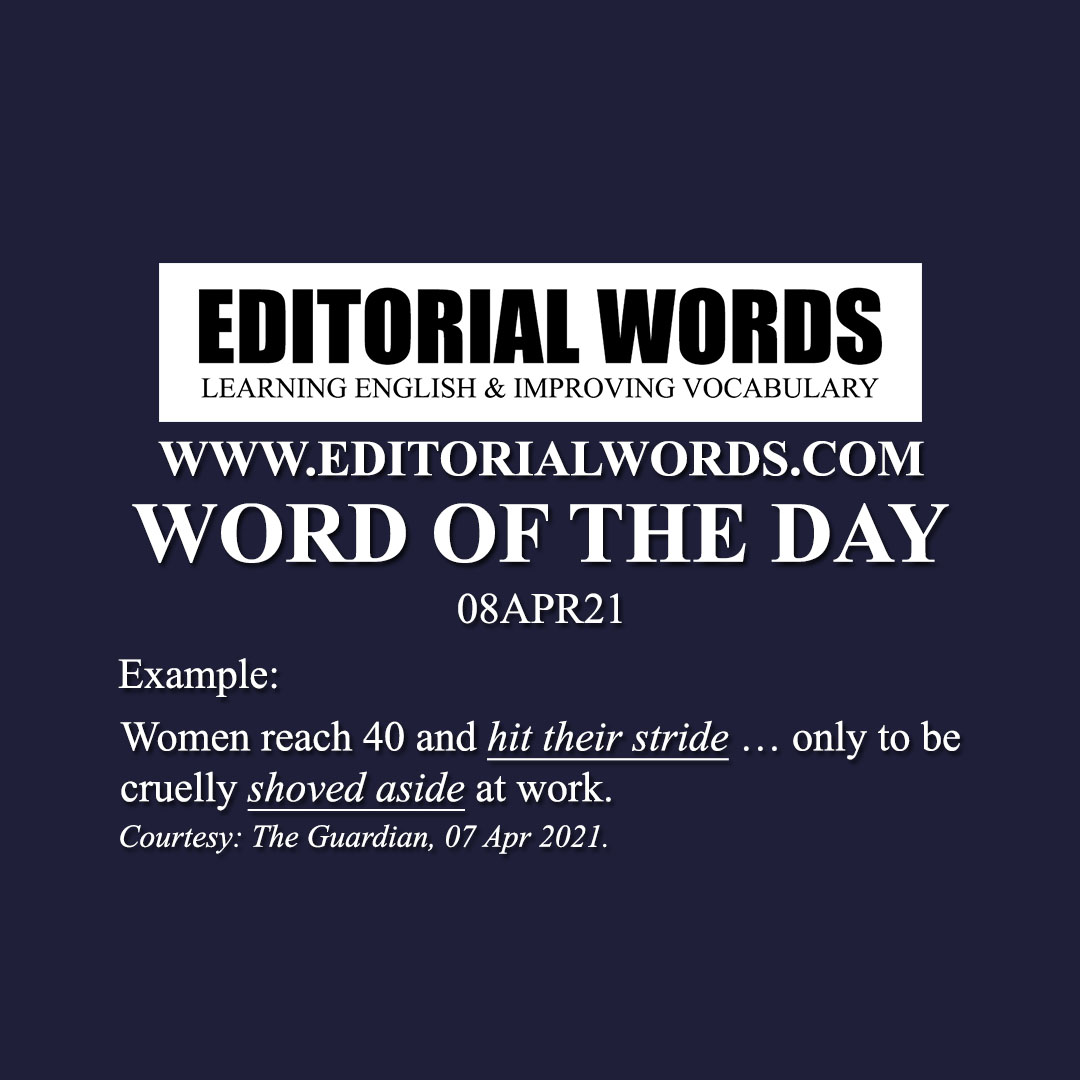 Word of the Day (shove (aside))-08APR21