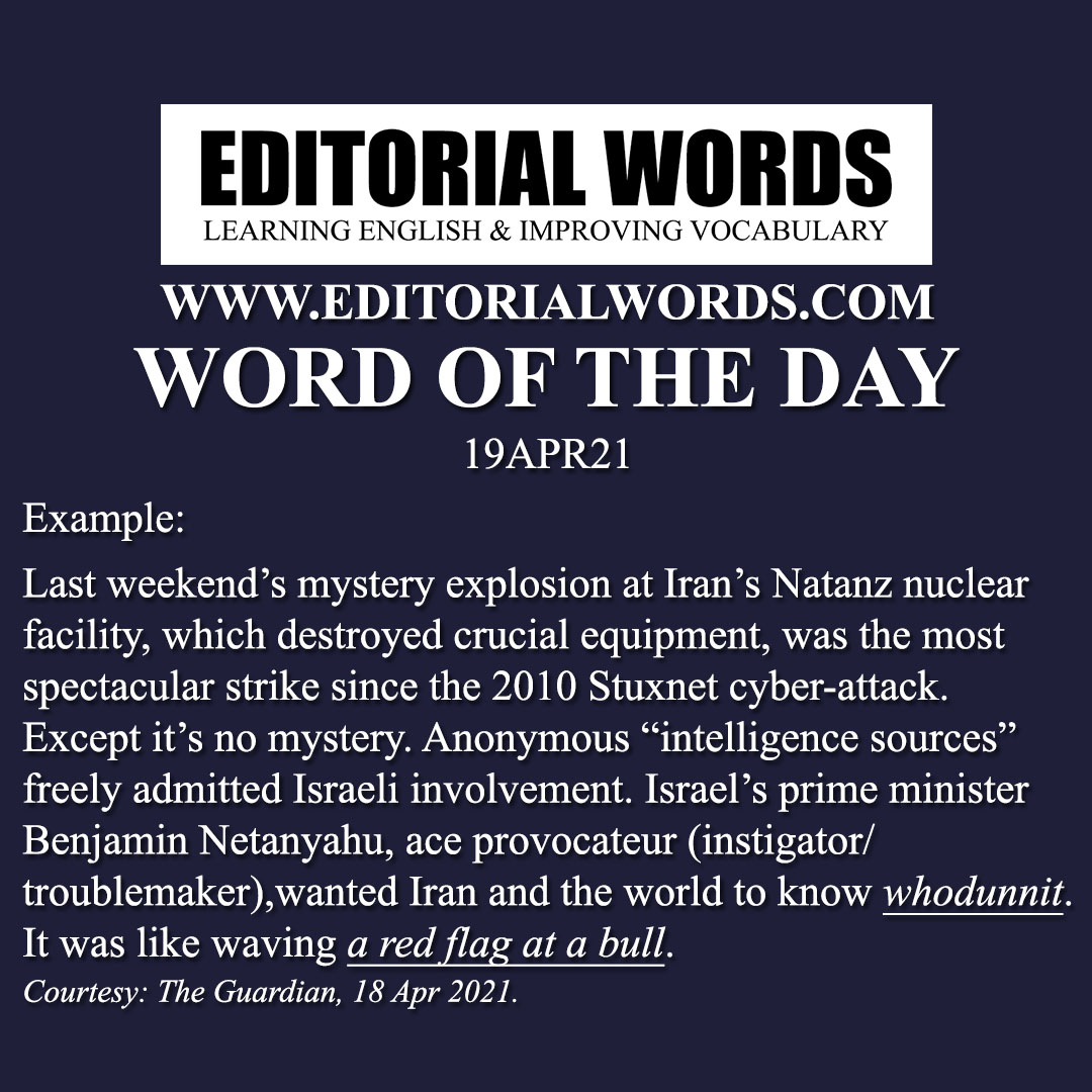 Word of the Day (whodunit)-19APR21